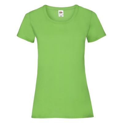 Модная однотонная женская футболка цвета лайм (салатовый)