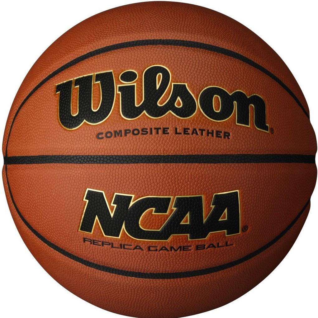 Мяч баскетбольный Wilson NCAA REPLICA GAME BALL размер 7 композитная кожа коричневый (WTB0730XDEF)