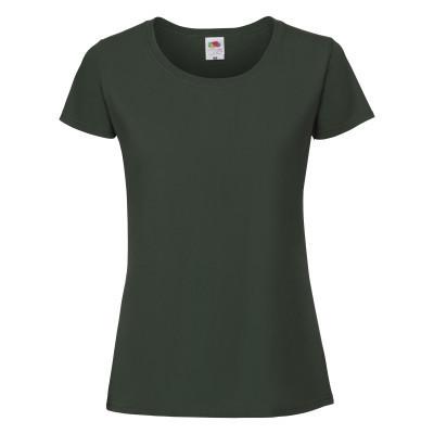 Молодежная женская плотная футболка темно-зеленая (бутылочный) - S, M, L, XL, 2XL