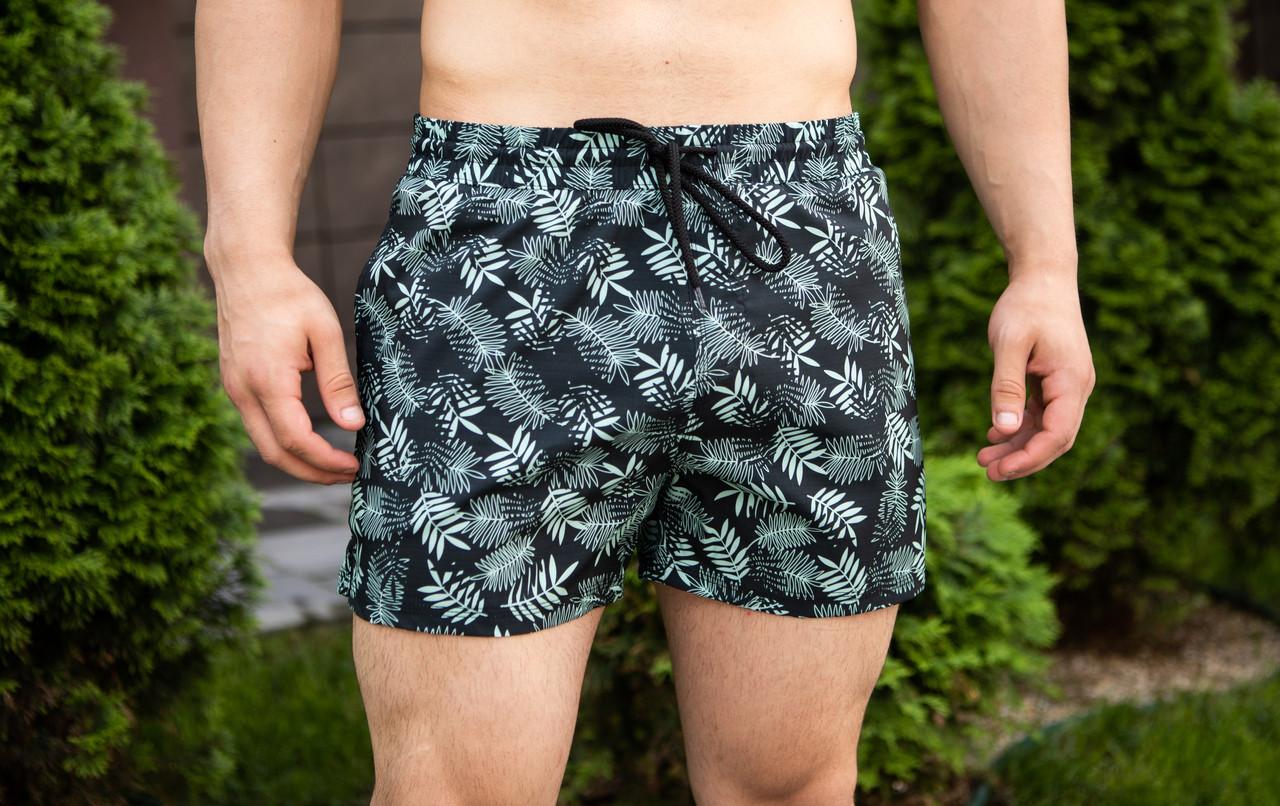 "Мужские пляжные шорты Pobedov swimming shorts ""Paporot"" (S, M, L, XL размеры)"