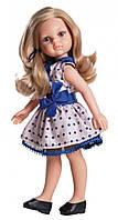 Кукла Paola Reina Карла в платье с синим бантом подружки-модницы 32 см