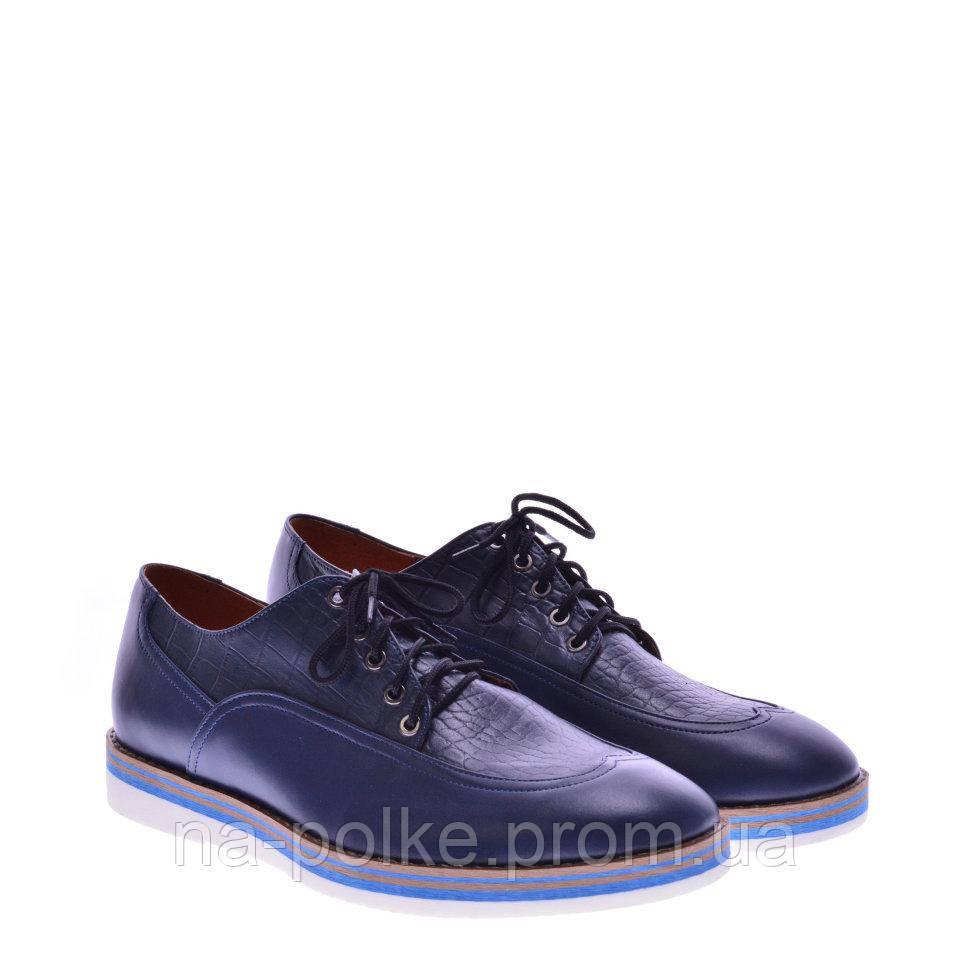 Туфли Синяя кожа рептилия