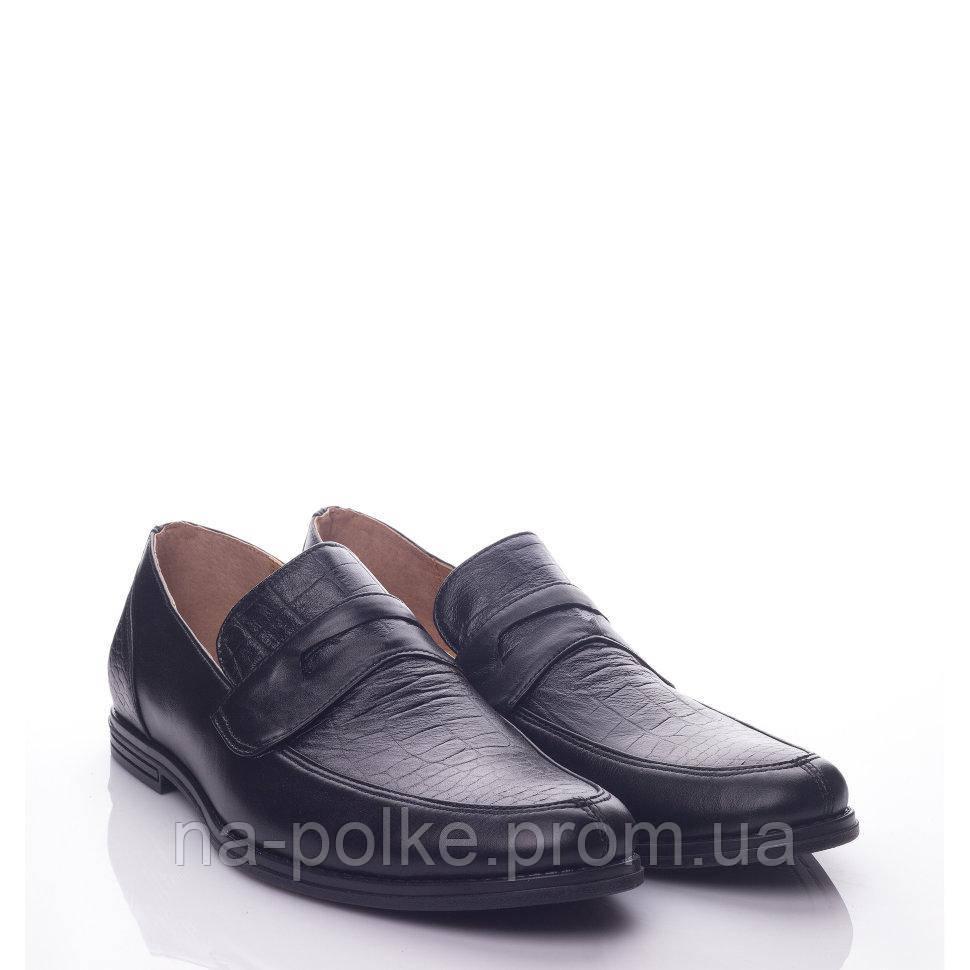 Туфли Черная кожа рептилия