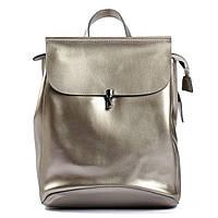 "Женский кожаный рюкзак сумка 4BAGS Серебро ""STELLA Silver"" (10299)"