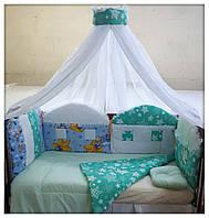 Комплект в детскую кроватку. Сказочный домик.