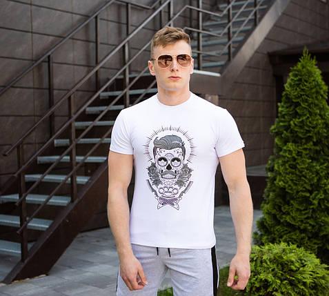 "Мужская футболка Pobedov ""Barber"" White, фото 2"