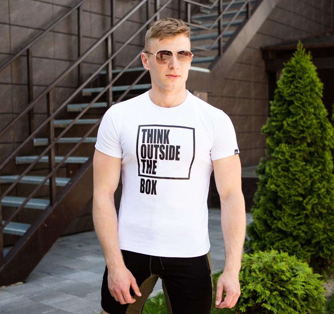 """Мужская футболка Pobedov """"Bingo"""" White (S, M, L, XL размеры)"""
