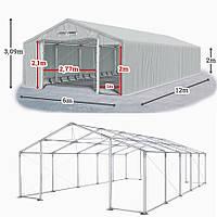 Шатер 6х12 метров ПВХ 600г/м2 с мощным каркасом под склад, гараж, палатка, ангар, намет, павильон садовый