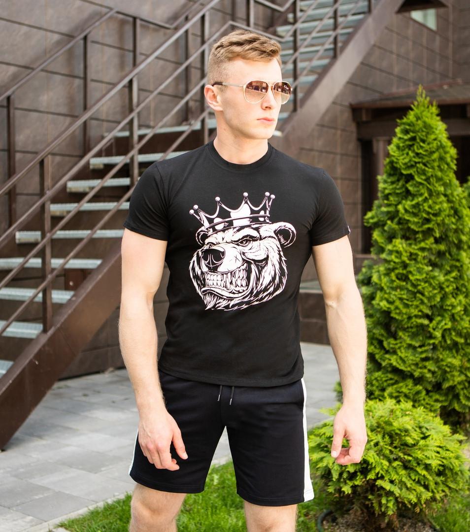 "Мужская футболка Pobedov ""Tsar"" Black"