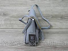 Женский клатч на один отдел, с клапаном, искусственная кожа, карман на клапане, регулируемый ремень, фото 2