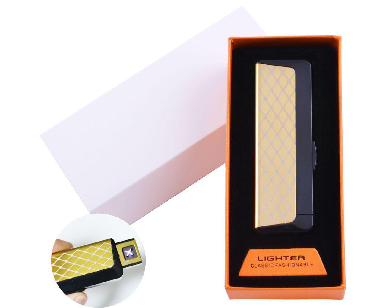 Электроимпульсная зажигалка в подарочной упаковке Абстракция (Двойная молния, USB)