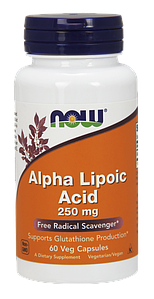 Альфа-липоевая кислота NOW Alpha Lipoic Acid 250 mg 60 veg caps