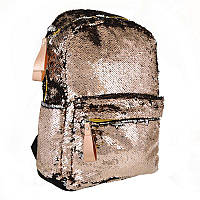 Рюкзак молодежный с паетками Yes GS-01 Gold (557676), для женщин, фото 1