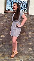 Платье мод №554-2, размеры 44,46,48 ромб серый