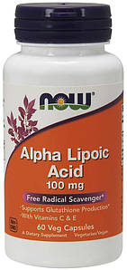 Альфа-липоевая кислота NOW Alpha Lipoic Acid 100 mg 60 caps