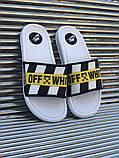 Мужские сланцы в стиле Nike Off-White (white), сланцы Найк, шлепанцы Найк, Тапочки найк (Реплика ААА), фото 2