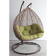 """Двухместное подвесное кресло """"Дабл"""" (беж + хаки)"""