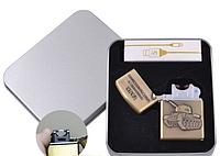 Электроимпульсная зажигалка в подарочной упаковке Танк (USB)