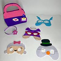 Доктор Плюшева: набор из 4-х масок друзей доктора + саквояж и обруч, фото 1
