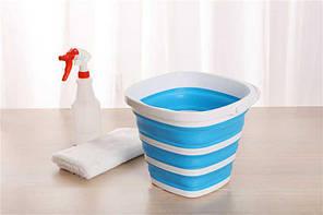 Ведро 10 литров туристическое складное Collapsible Bucket, фото 2