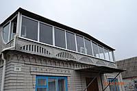 Остекление фасада дома