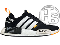 "Мужские кроссовки Adidas NMD R1 x Off-White ""Nast"" Black/White/Orange BA8860"