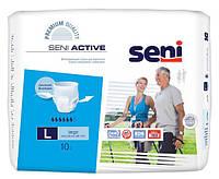 Трусики для взрослых SENI ACTIVE large. (10 шт) 6 капель (100-150 см)