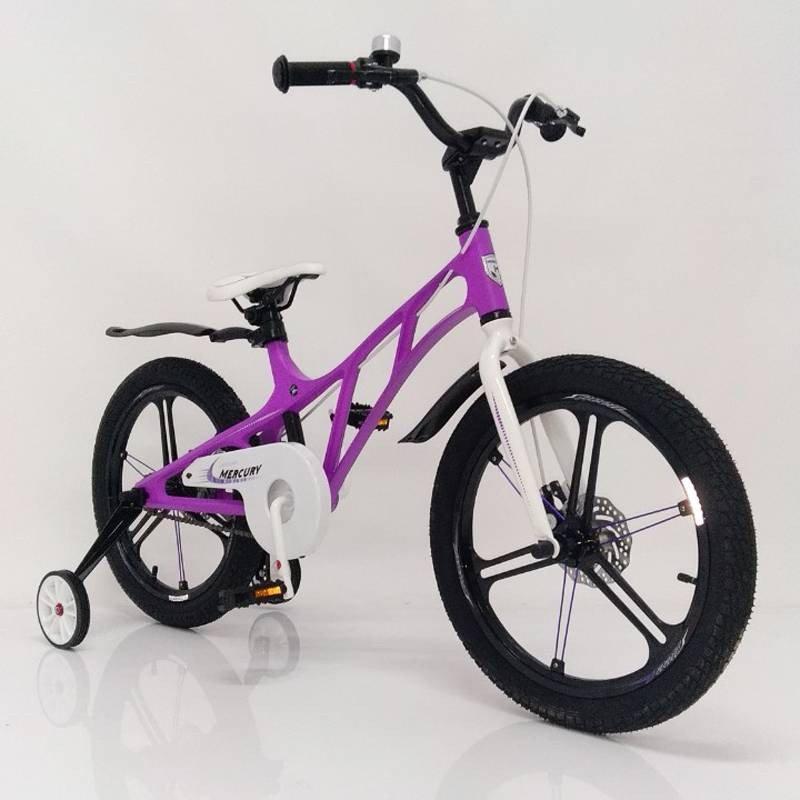 """Детский велосипед Mercury 14"""" премиум класса фиолетового цвета"""