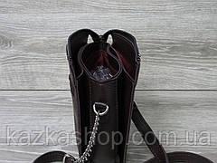 Женский клатч из эко-кожи, три отдела, логотип в стиле Guess (реплика), регулируемый ремешок, Турция, фото 2