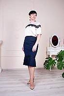 Удлиненная юбка из стрейчевой ткани