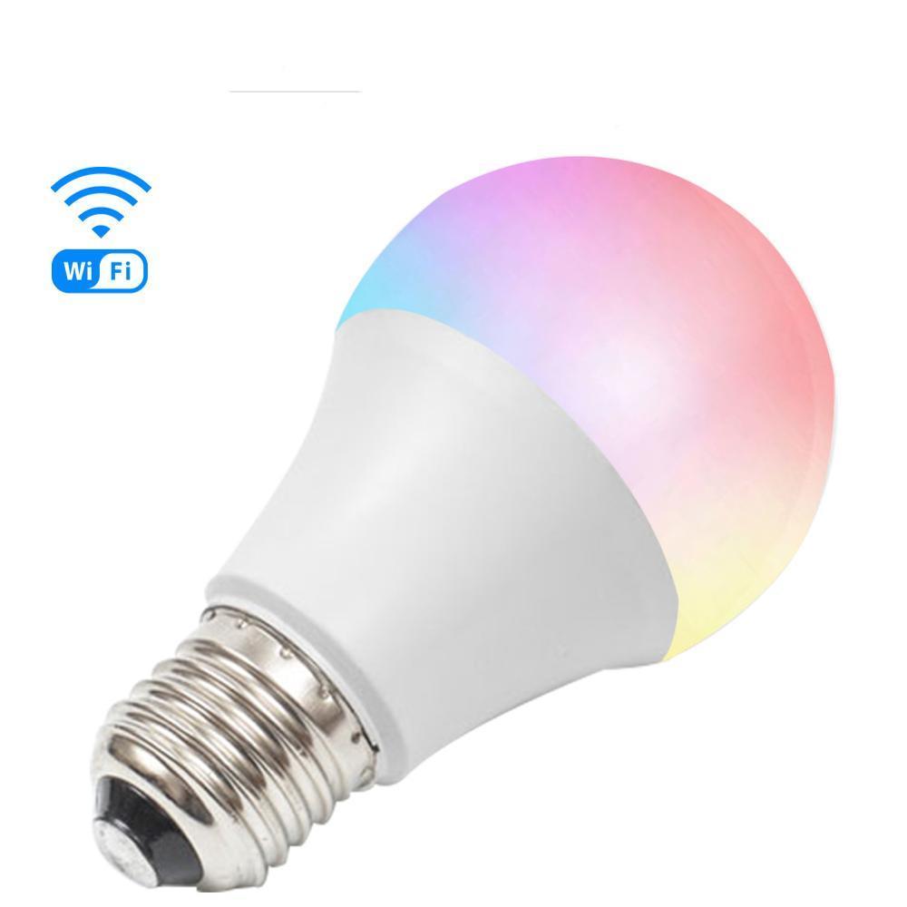 WiFi светодиодная цветная лампа RGB+CCT. Приложение Tuya Smart Life