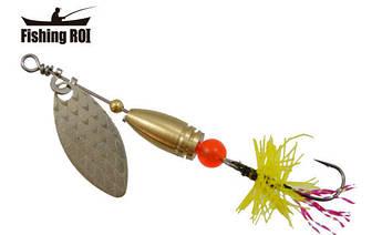Блесна-вертушка Fishing Roi  Teeny Spoon 3,6гр. цвет-001 Fly Yellow