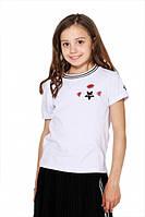Летняя футболка для девочки с аппликациями Lukas 9238