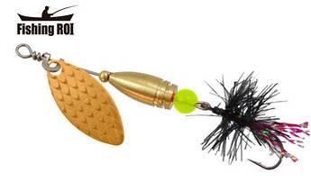 Блесна-вертушка Fishing Roi  Teeny Spoon 3,6гр. цвет-003 Fly Black