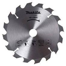 Пильний диск Makita ТСТ по дереву 165x20 мм x 16 зубів (D-52554)