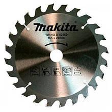Пильний диск Makita ТСТ по дереву 165x20мм x 24 зубів (D-52560)