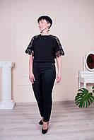 Черные классические укороченные брюки