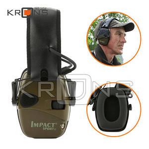 Наушники активные стрелковые шумоподавляющие защитные Impact Sport 2