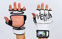 Перчатки для смешанных единоборств MMA PU VENUM белые BO-5699
