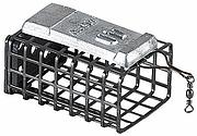 Кормушка Jaxon AV-PB прямоугольная с дном (25/32/44мм 50г)