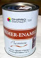 Эмаль «Грунт-эмаль»  антикоррозионная 3 в 1 Primer – Enamel Premium «Днепр- Контакт» 0.9  кг