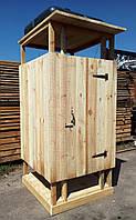 Душ деревянный летний из обрезной доски открытого типа