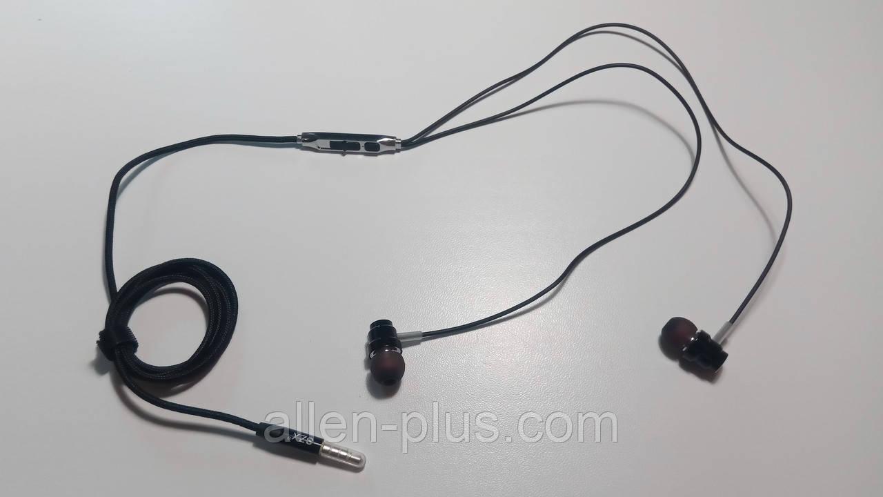 Наушники-гарнитура внутриканальные (вакуумные) SHANG ZHI XUAN SXZ SD08, регулятор громкости,Black