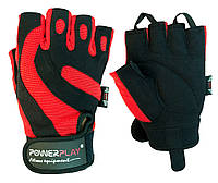 Рукавички для фітнесу PowerPlay 1598 Чорно-Червоні M, фото 1