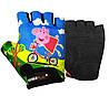 Велорукавички PowerPlay 5473 Peppa Pig голубі  3XS