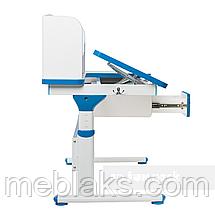 Комплект парта Creare Blue с надстройкой + детское ортопедическое кресло SST2 Blue FunDesk, фото 2