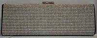 Клатч женский (пластик + текстиль), 40738 Черный, размер 180*95*55