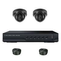 Супербюджетный 2-х камерный готовый комплект внутреннего видеонаблюдения 700 TVL