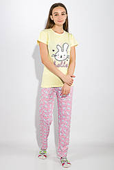 Пижама женская 317F025 (Желто-розовый) XL