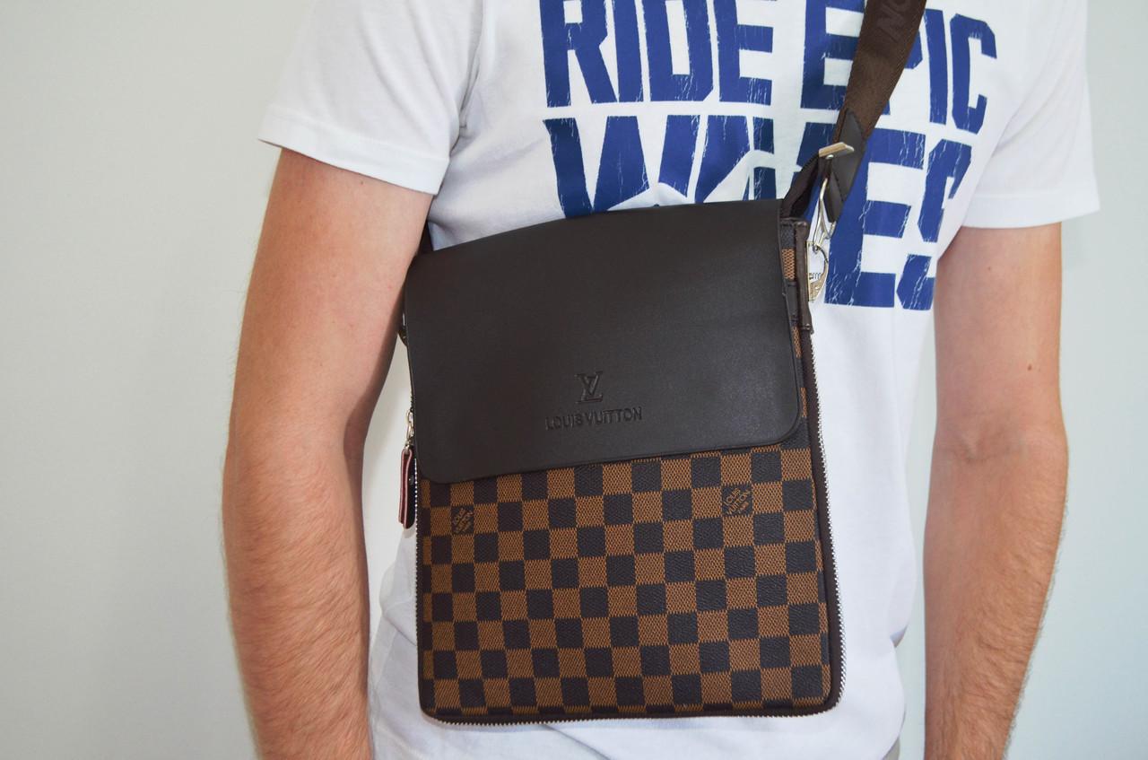 Мужская сумка Louis Vuitton(луи витон) через плечо, дроп и опт, брендовая